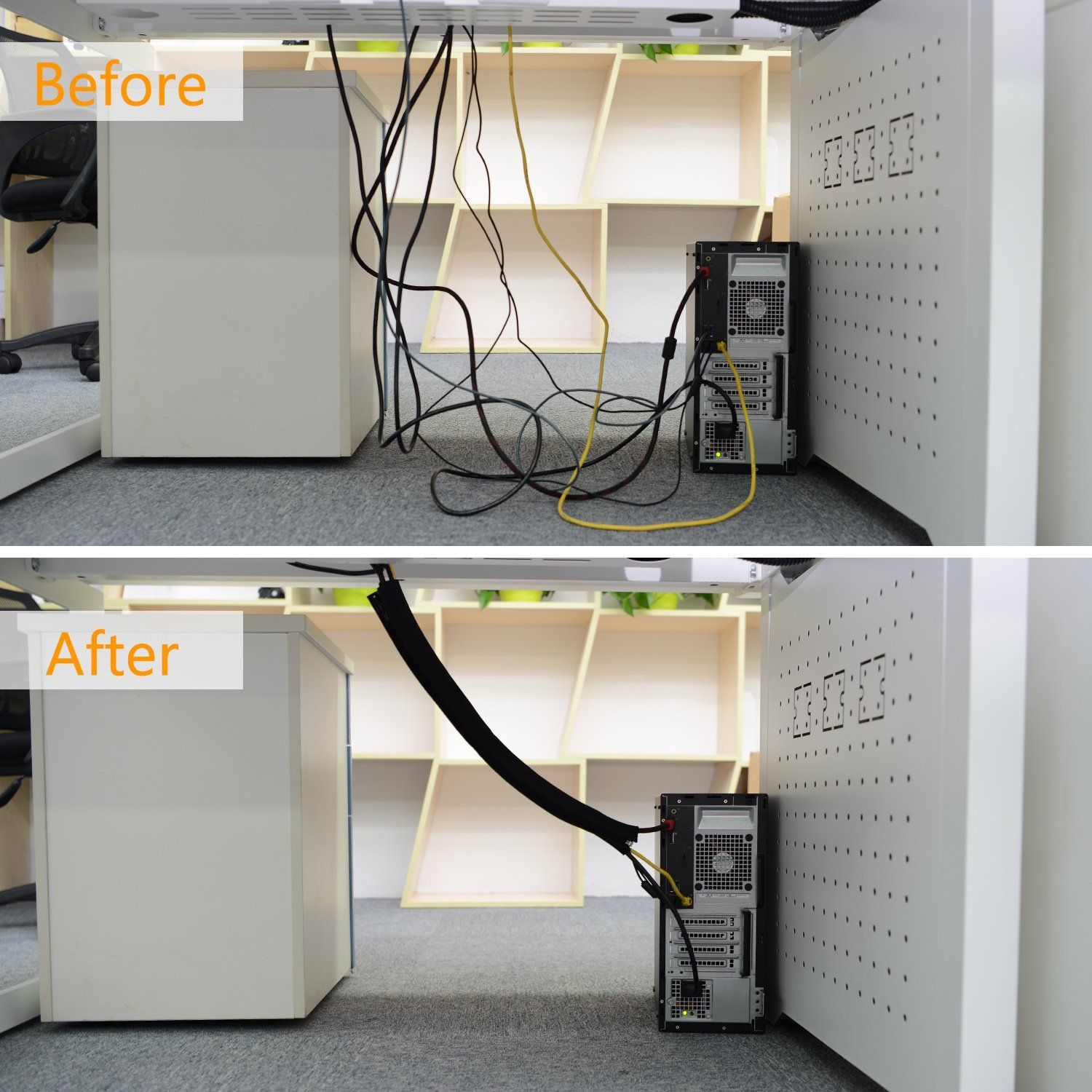 Cable Management Floor Cord Protector And Concealer Cable Management Cord Protector Hide Wires