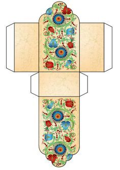 Floral Free Printable Gift Box Template  Gift Box Template Free