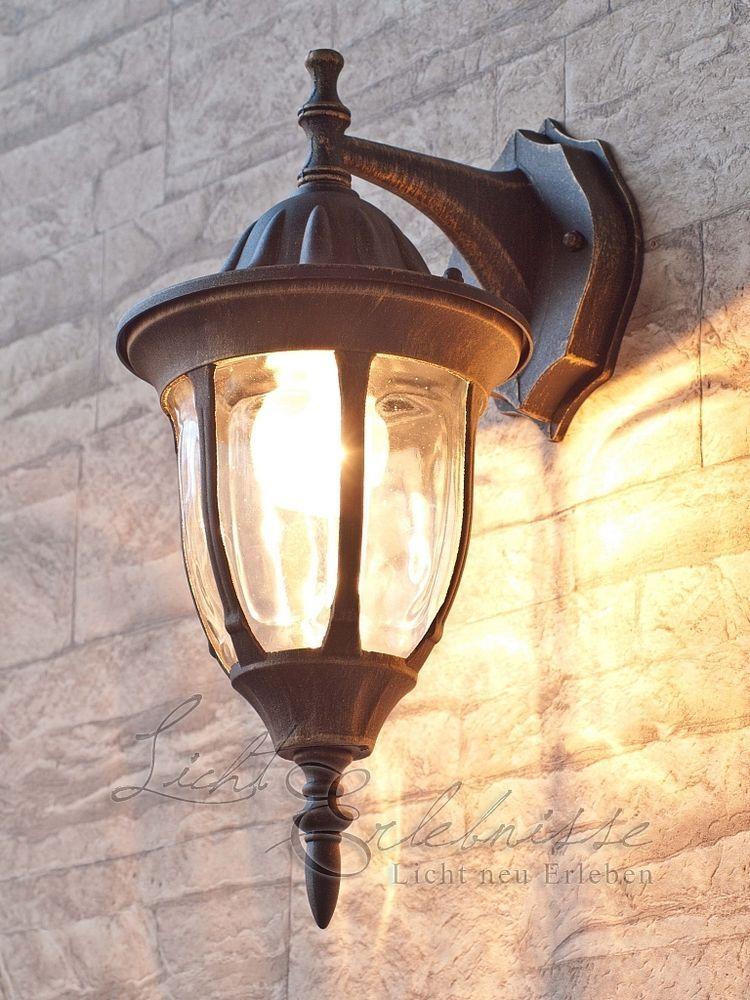 details zu edle wandau enleuchte in antik wandlampen hauseingang aussenlampe laterne licht. Black Bedroom Furniture Sets. Home Design Ideas