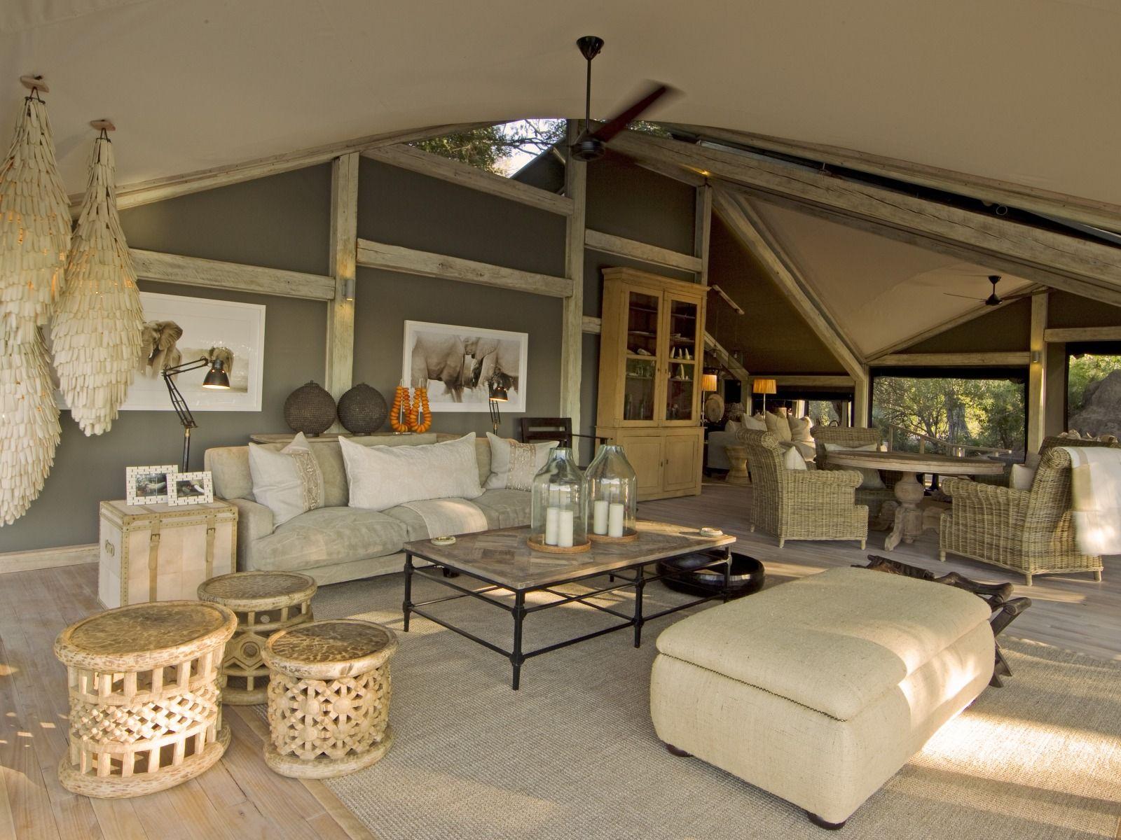 Safari Decor For Living Room Abu Camp Botswana Africa Botswana Design Interior Decor