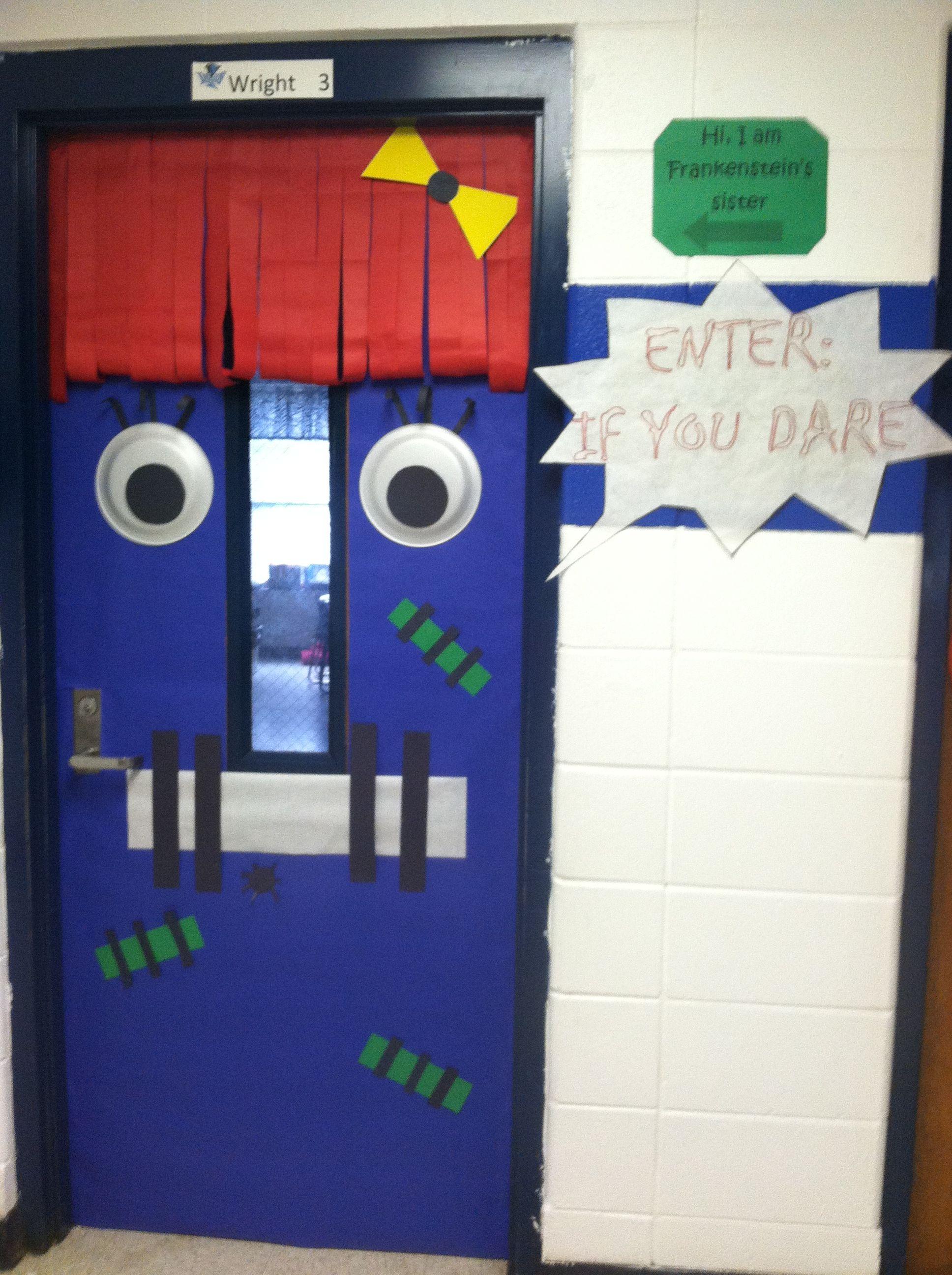 My classroom door for Halloween. Itu0027s Frankensteinu0027s sister! & My classroom door for Halloween. Itu0027s Frankensteinu0027s sister!!! | My ...