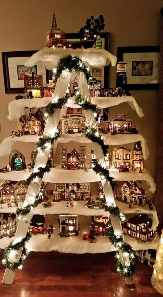 Village display Christmas Pinterest Display, Christmas decor