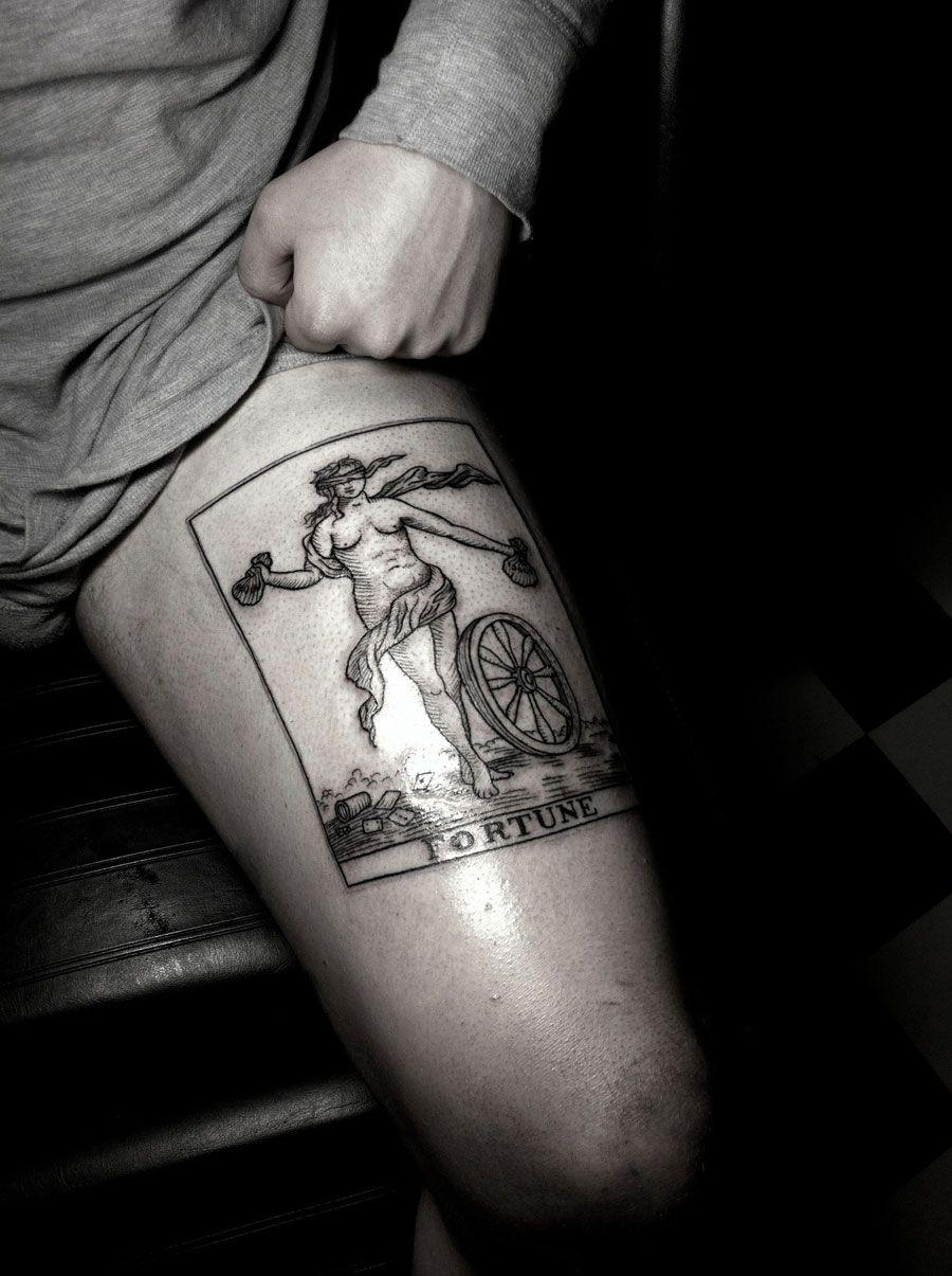 Fortune - Card - Tattoo - Leg - Beautiful !
