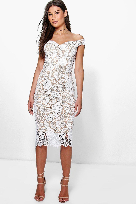 e3eddfb1099b Boutique Marcie Lace Off Shoulder Midi Dress | Party Dresses in 2019 ...