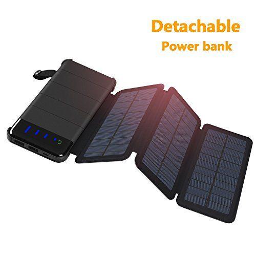 Solar Charger Addtop Detachable Solar Power Bank 10000mah Https Topcellulardeals Com Product Solar Charger Addtop Solar Charger Solar Power Bank Solar Power