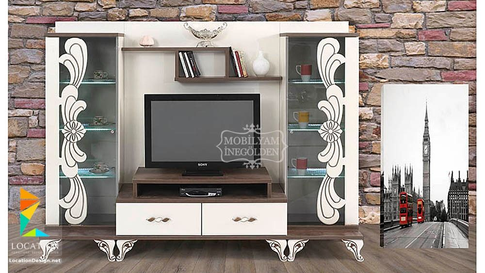 رفوف خشبية للتلفاز مكتبات شاشات Lcd مودرن Tv Wall Decor Home Decor Decor
