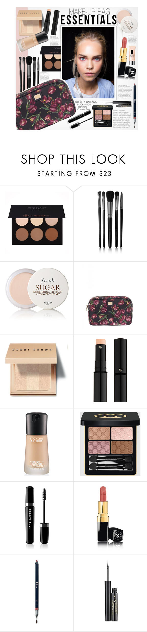 """e s s e n t i a l s"" by earendil-xx ❤ liked on Polyvore featuring beauty, Anastasia Beverly Hills, Illamasqua, Fresh, Dolce&Gabbana, Bobbi Brown Cosmetics, Clé de Peau Beauté, MAC Cosmetics, Gucci and Marc Jacobs"