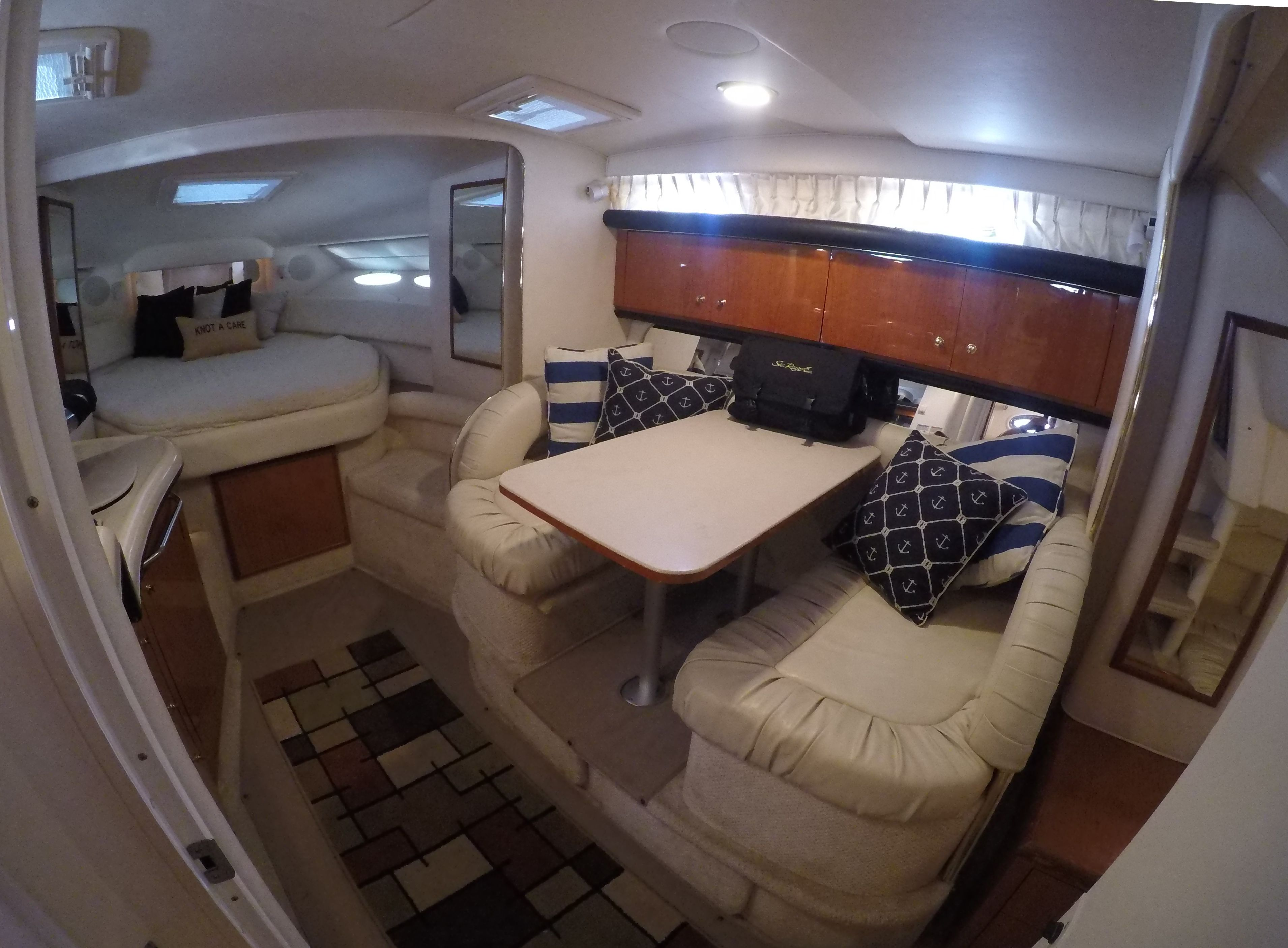 The Interior Of This 340 Sundancer Is The Typical Express Cruiser