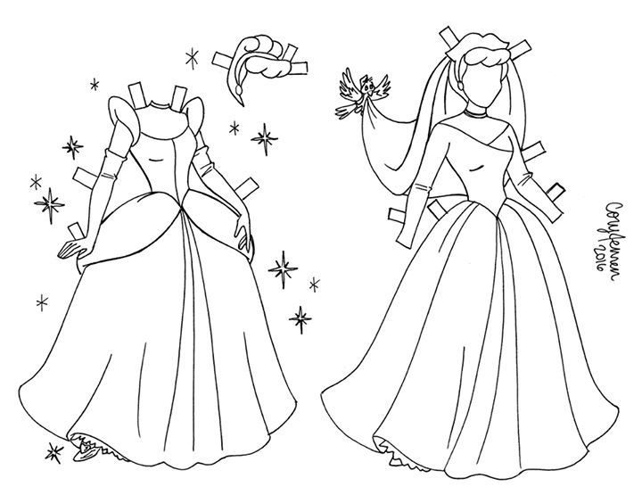 Clothes For Cinderella Line Art Paper Doll Barbie Paper Dolls Disney Paper Dolls Princess Paper Dolls