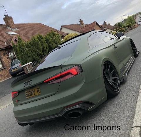 Audi A5 S5 Rs5 2017 B9 Carbon Fiber Trunk Lip Highkick Version In 2020 Audi A5 Audi Sports Car Audi S5