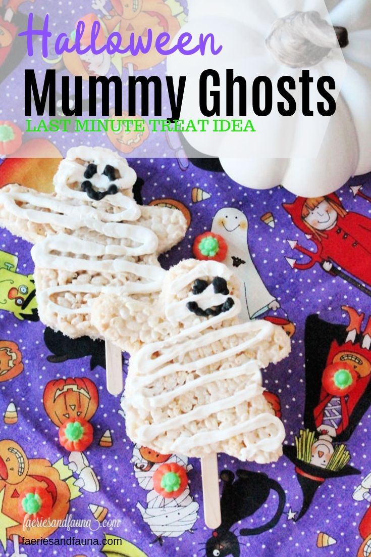 Ghost Mummy Rice Krispie Treats #marshmallowtreats
