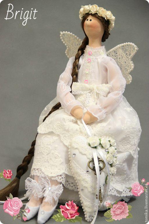 Купить Ангел - хранитель - белый, интерьерная кукла, ангел-хранитель, кукла ручной работы, тильда