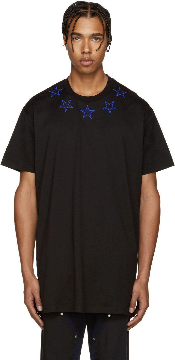 d82be8bc9bbb GIVENCHY Black Stars T-Shirt.  givenchy  cloth  t-shirt