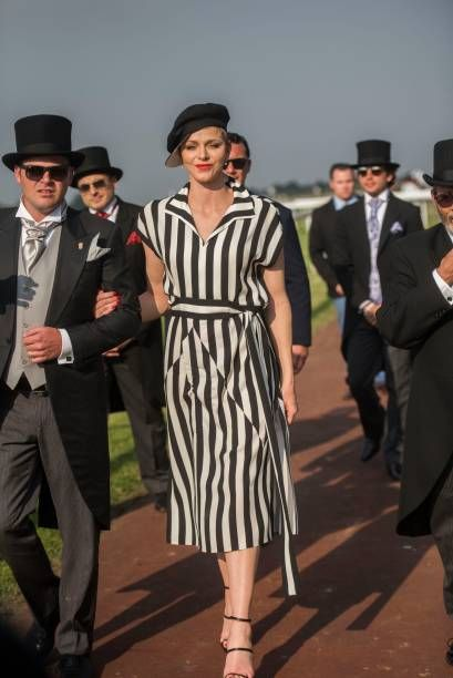 Princess Charlene during the Princess Charlene Ladies Day at Turfontein Race course on April 23 2017 in Johannesburg South Africa