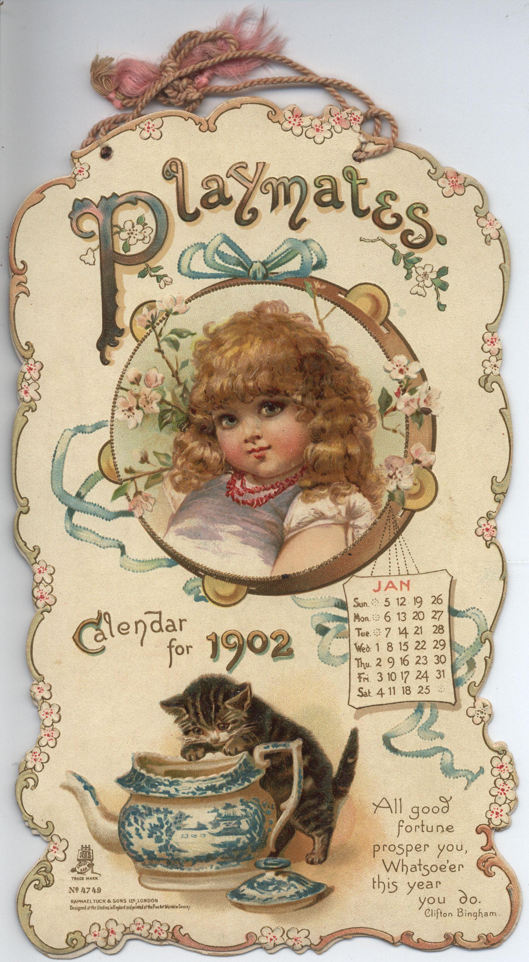 PLAYMATES CALENDAR FOR 1902