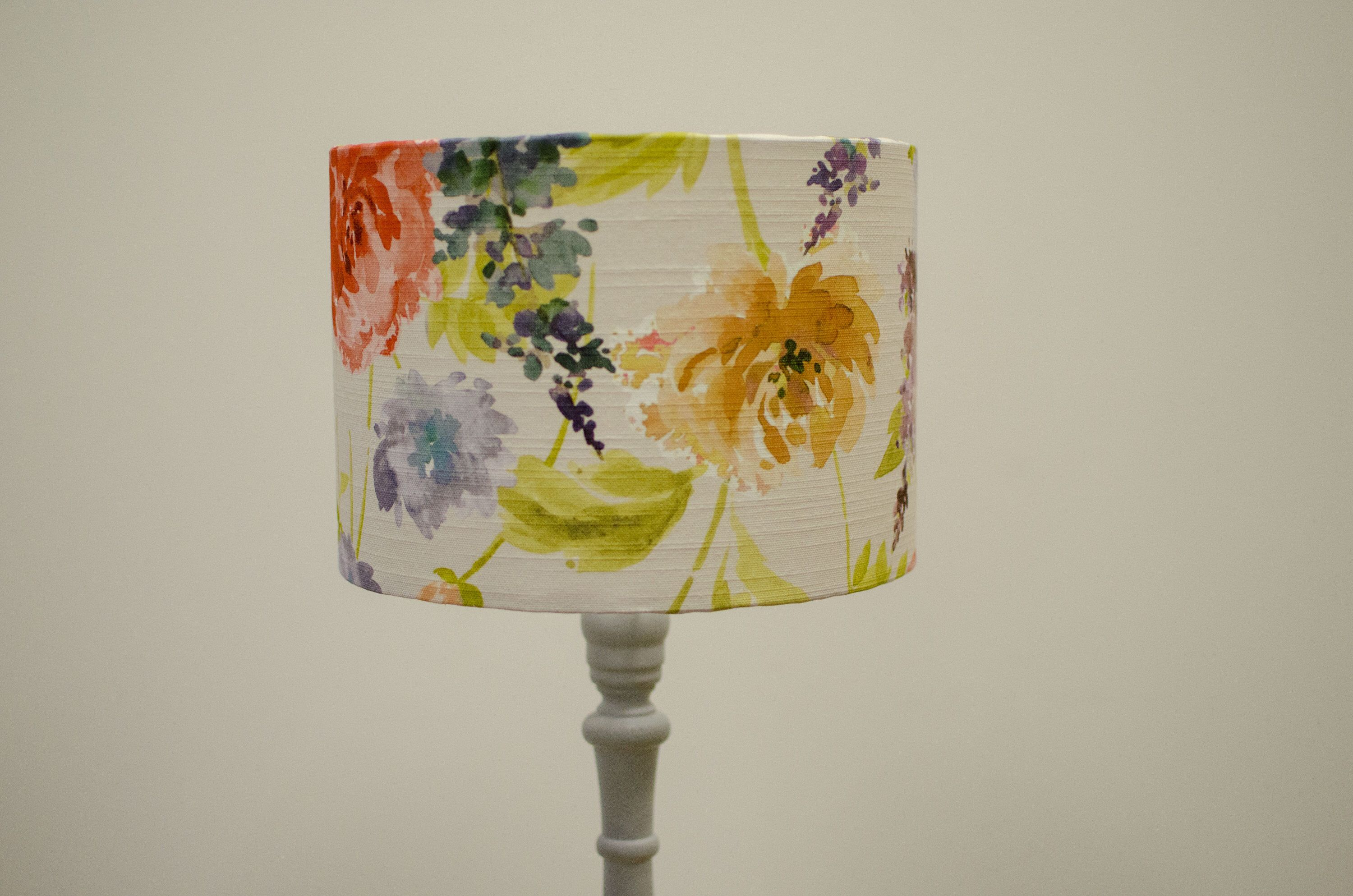 Watercolour Lamp Country Home Decor Watercolour Floral Floral Lampshades Floral Home Decor Country Lampshade