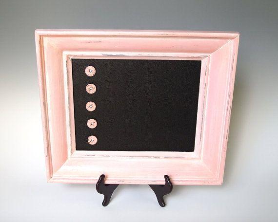 Framed Magnet Board Magnetic Chalkboard  Shabby by merritthyde, $34.00