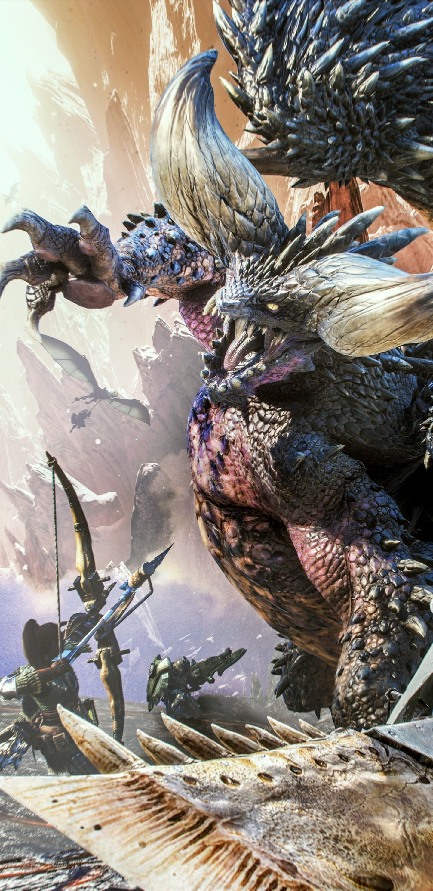 Download This Wallpaper Video Game Monster Hunter World 1440x2960 For All Your Pho Monster Hunter World Monster Hunter World Wallpaper Monster Hunter Mobile