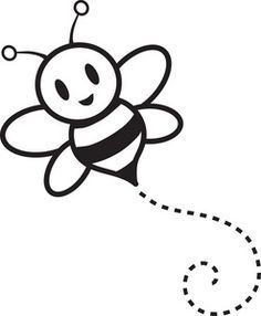 Bees Doodles Google Search Bee Clipart Bee Drawing Bee Outline