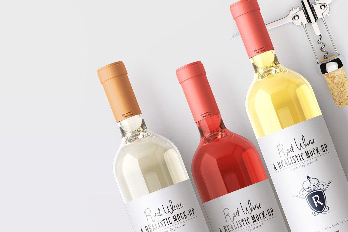 Wine Mockup Kit Liquor Store Liquor Wine Bottle