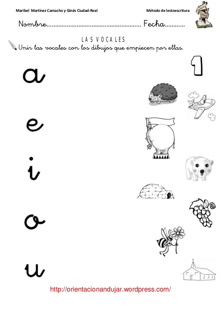 las vocales mayusculas con dibujos  Buscar con Google  nios