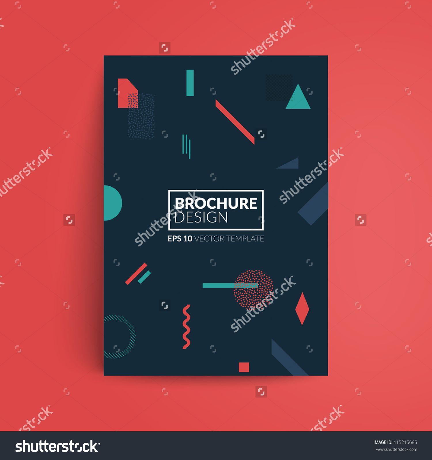 Geometric Cover Design A Format Template For BrochurePoster