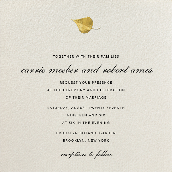 Gold Leaf by Paperless Post. Create beautiful wedding