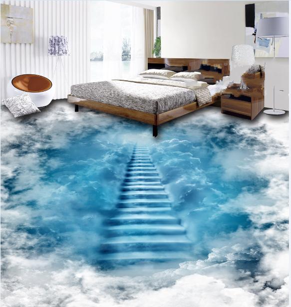 3D Paradise Stairway Floor Mural