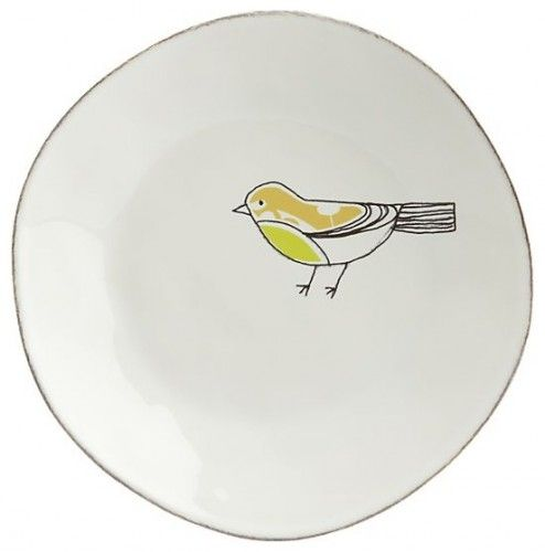 Chickadee Green Plate in Dinner Plates contemporary plates  sc 1 st  Pinterest & Need a small stash of plates for serving the kids at the bar ...