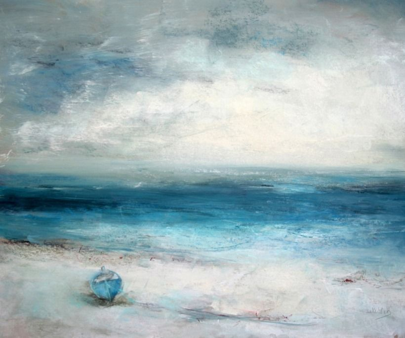 Blue boat, Scilly via D'Art Gallery