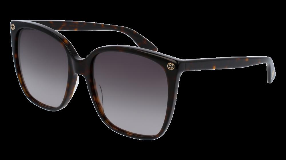 Gucci GG0022S003 Havana Sunglasses / Brown Gradient
