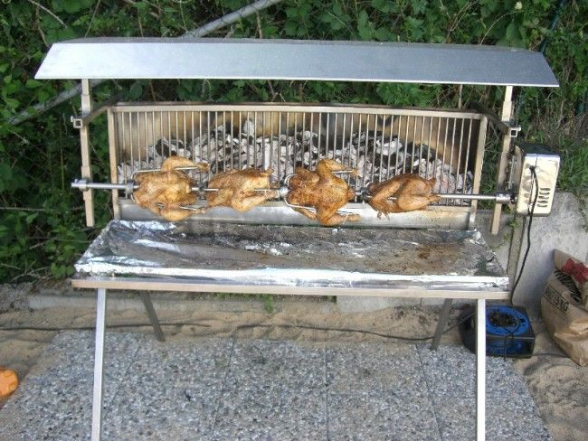Barbecue verticale en inox pour une cuisson saine sans for Fabriquer un barbecue pas cher