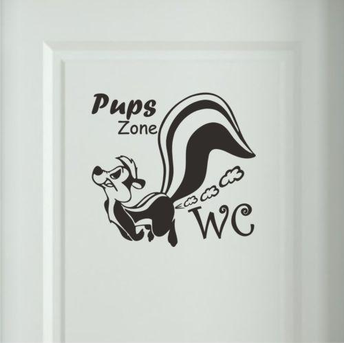 Stinktier Pups Zone Wandtattoo WC Badezimmer Toiletten - wandtattoos für badezimmer