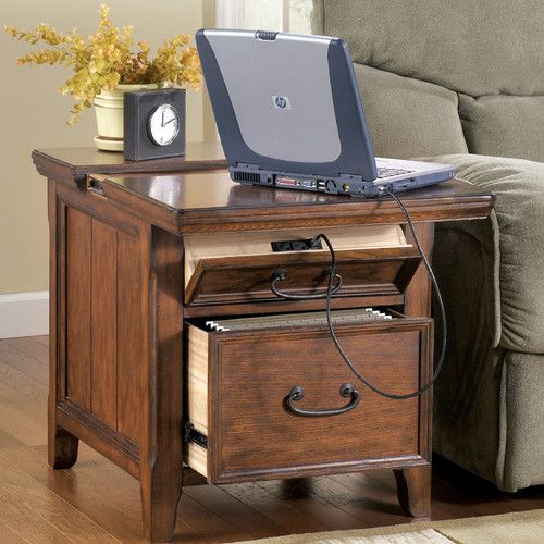 Mathis End Table With Storage Drawers Furniture projects and
