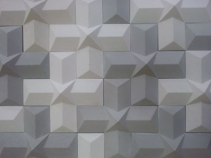 Carreaux 3d crox en b ton concrete for 3d concrete tiles