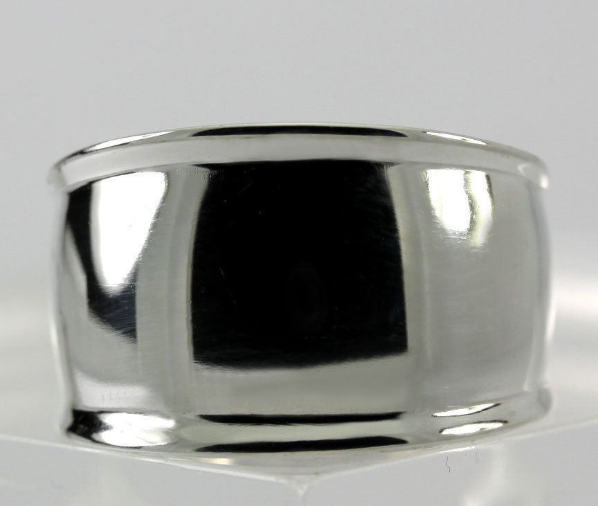 Vintage Sterling Silver Wide Tapered Band Ring Size 9.25 #Band