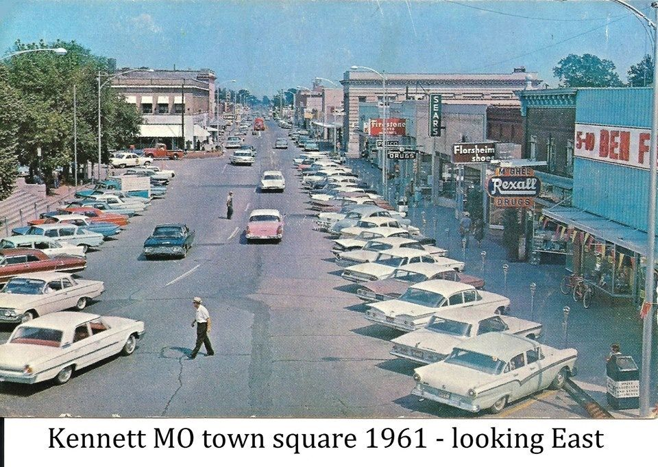 Kennett Square 1961 Kennett Missouri Street Scenes City