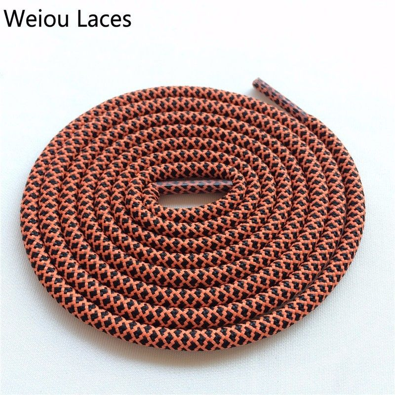 1Pair Long Round Waxed Shoelaces Shoe Laces Leather Boot Bootlaces Cord Strings