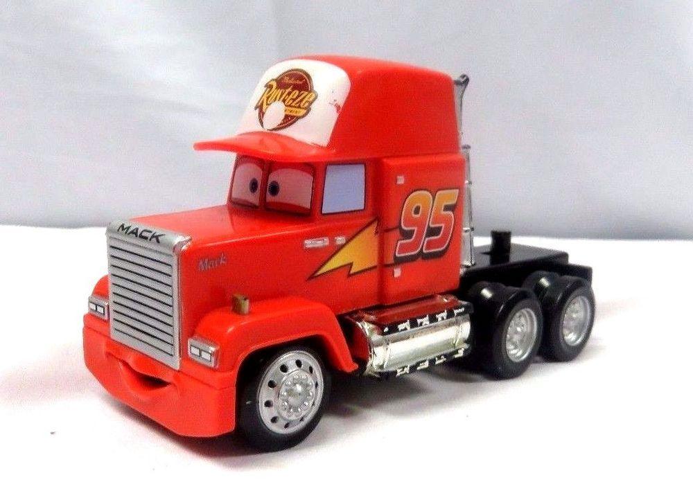 Disney Pixar Cars Mack 95 Tractor Semi Truck Red Plastic Disney