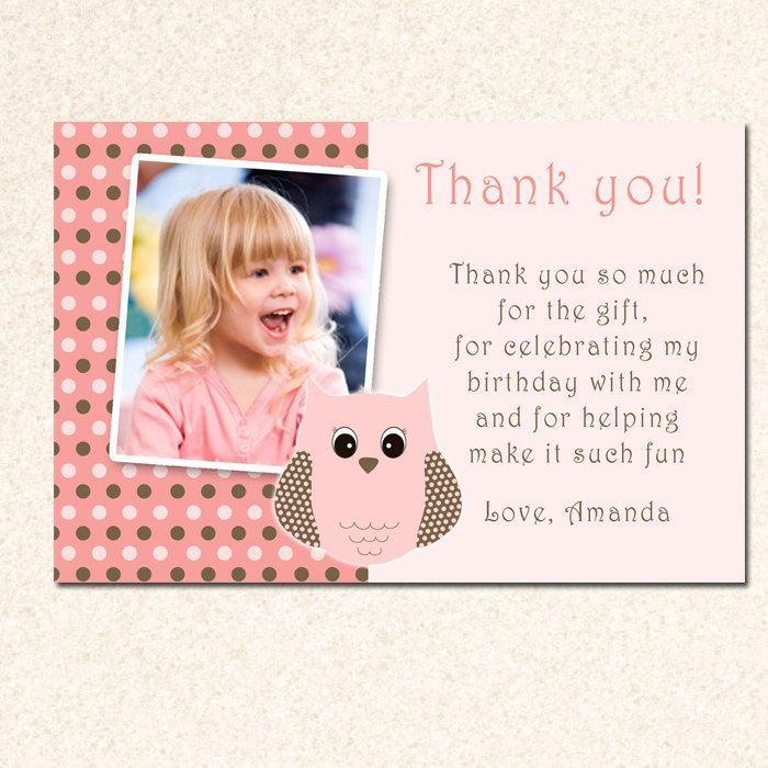 Birthday Thank You Cards Wording My Birthday Pinterest Baby