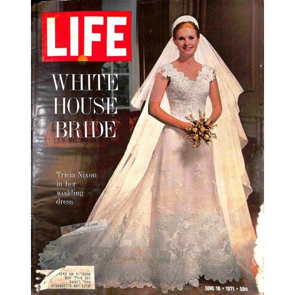 Tricia Nixon Wedding Gown: Vintage Magazines From MereMart.com