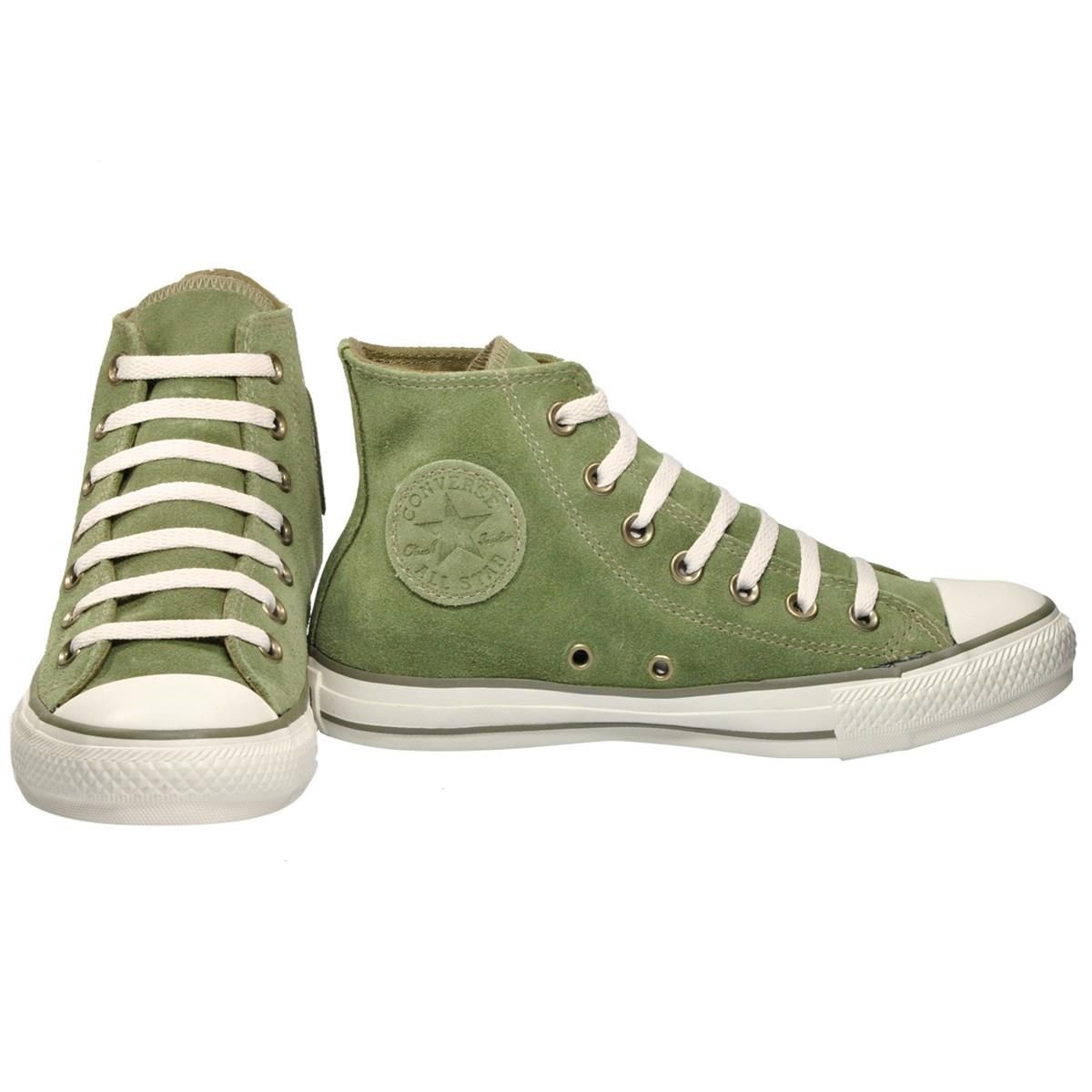 Tênis Converse All Star CT As Suede Hi Verde Musgo