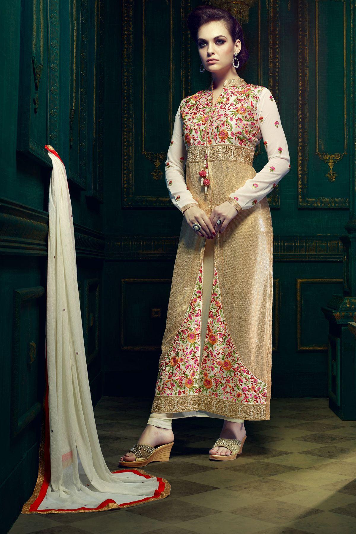 Designer salwar suits zohraacreamfaux