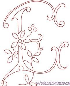Letter designs yahoo image search results hand art pinterest monogram patterns for hand embroidery letters e and f spiritdancerdesigns Choice Image