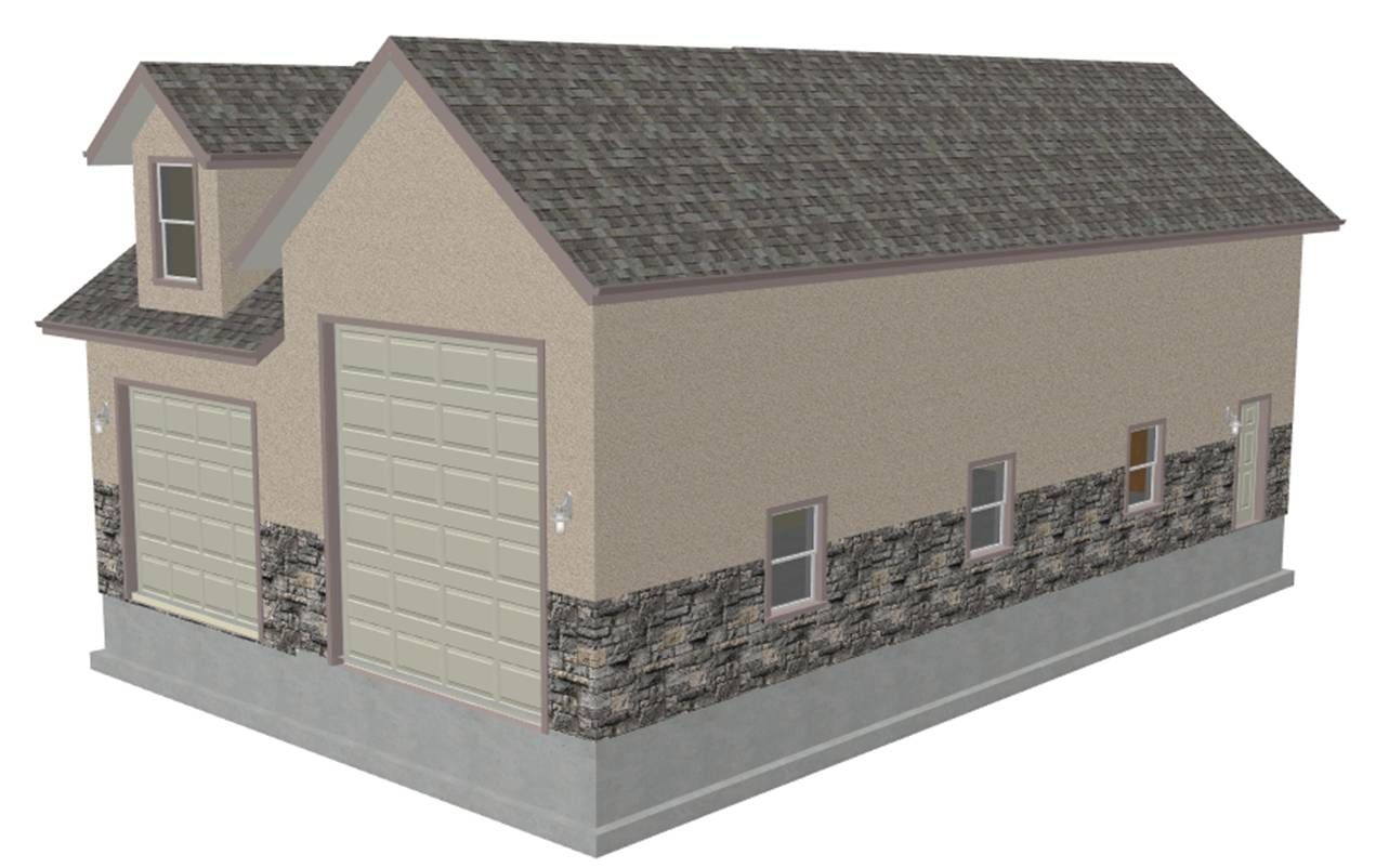 Small log cabin floor plans also rv garage with living for Live in garage plans