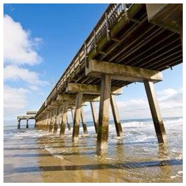 Tybee Island Beach: Morning View From Under The Tybee Island Pier! Who's Ready