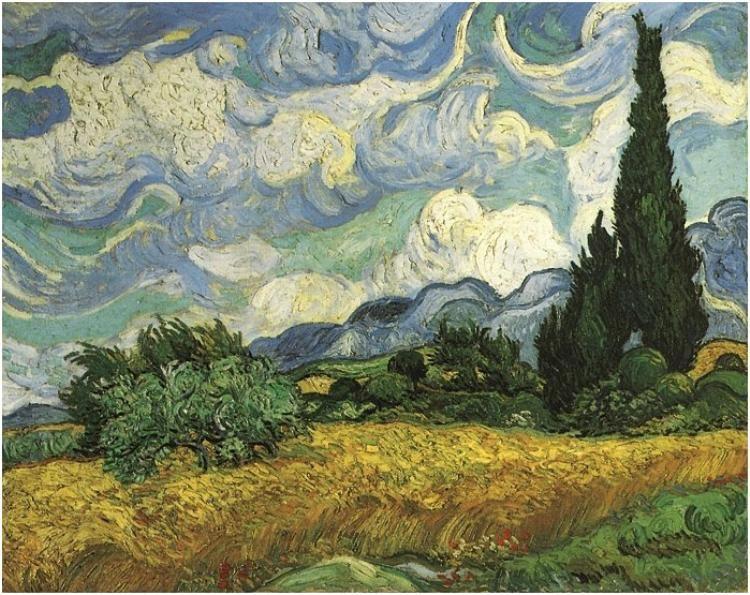 Two Cypresses 1889 NEW Dutch Fine Art Print POSTER Vincent van Gogh