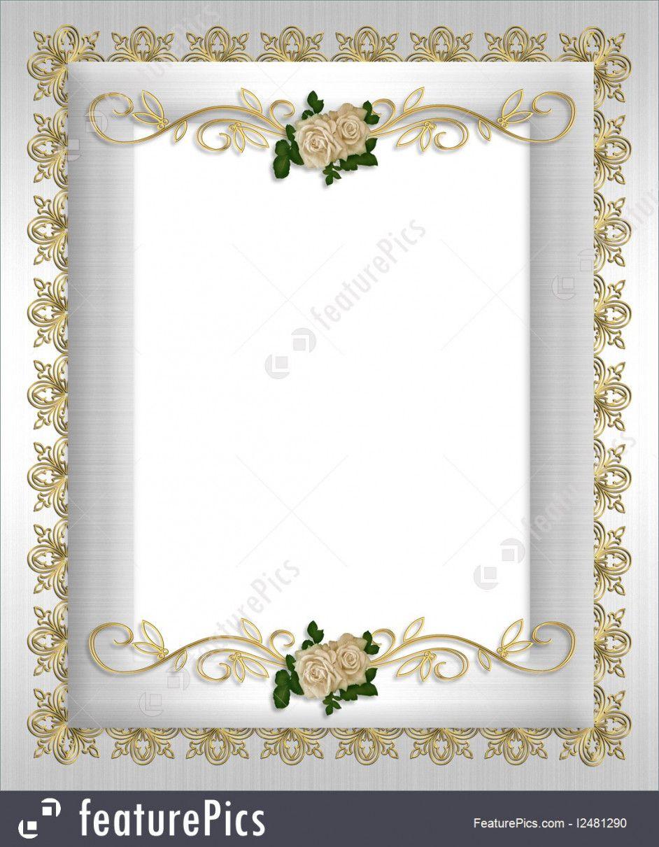 Formal Invitation Border Designs  Wedding invitation background