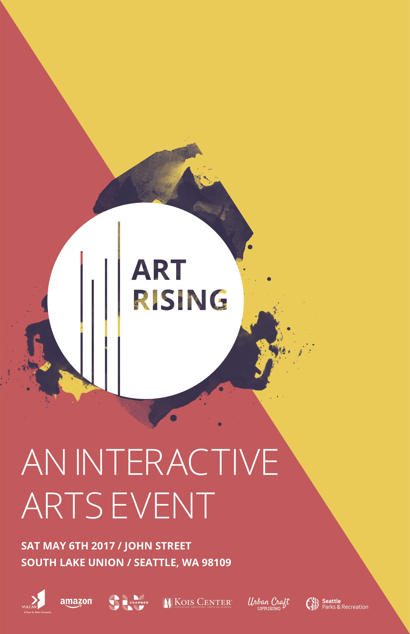 Art Rising South Lake Union Chamber Of Commerce Wa Art Poster Design Art Exhibition Posters Event Poster Design