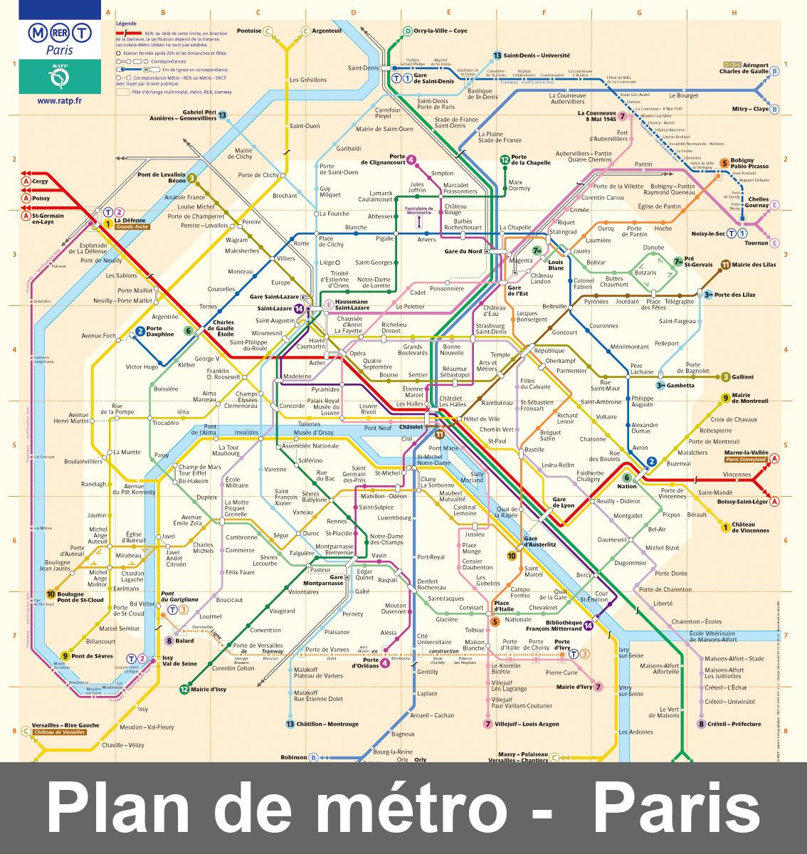 Plan Métro Paris | French Teachering | Pinterest | France